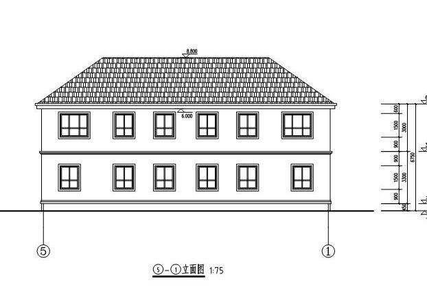 [永云阁楼]AT291二层带别墅双拼结构大气图纸标注尺寸编号别墅图片