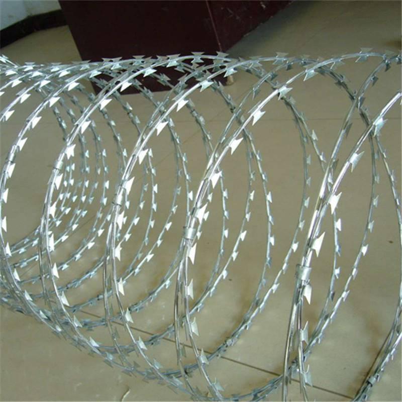 刀片刺绳参数 刀片刺绳安装 防盗刺线