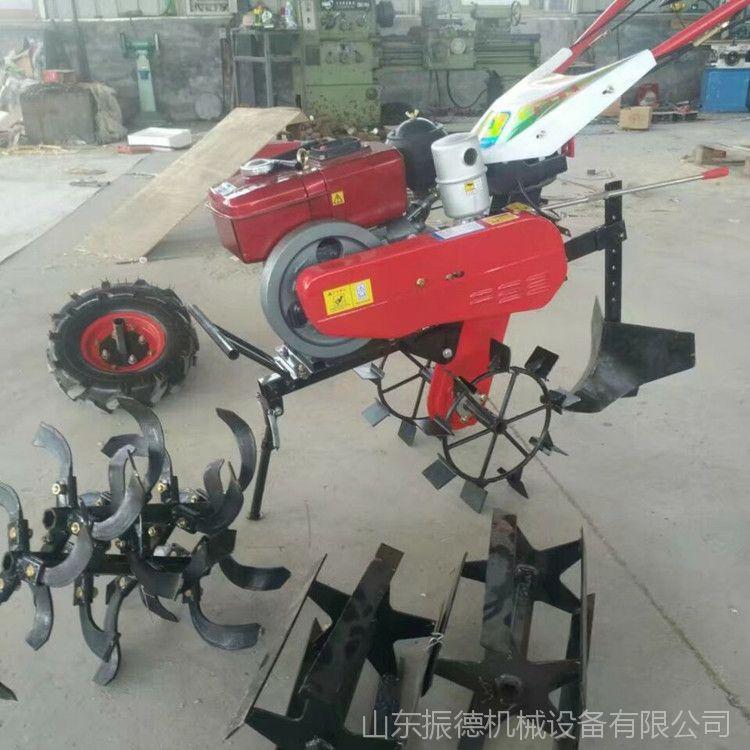 手扶式汽油微耕机 大棚田园管理机 除草旋耕机 振德厂家供应