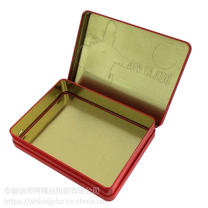 软胶囊铁盒 盖底同模铁盒 保健品礼盒定制