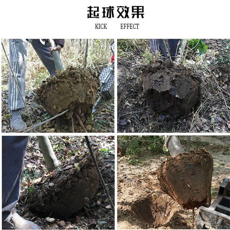 苗圃园林用挖树移栽机 链锯式挖树起苗机