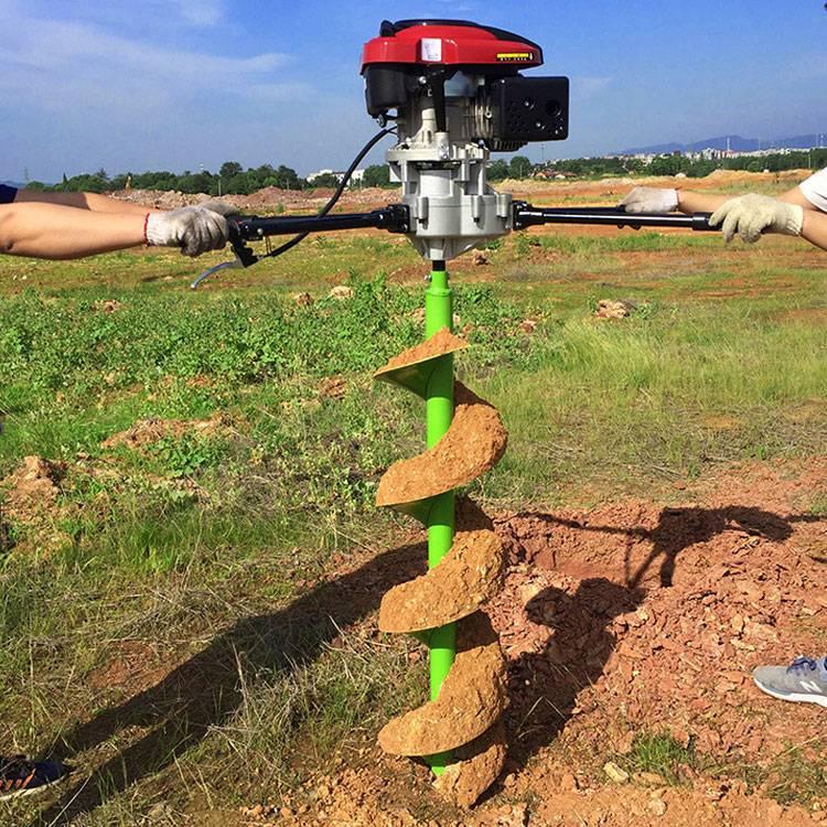 双人操作植树钻坑机 启航耐用型水泥电线杆打眼机 强劲型果树施肥挖坑机厂家