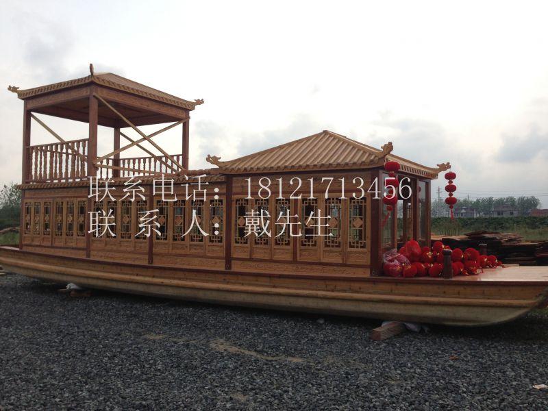 吉林18米画舫船买哪 【楚风木船】供应住宿餐饮船 水上会议船 画舫木船