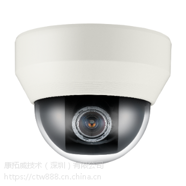 """三星韩华Hanwha QND-7080RP 1/3"""" 400万像素全高清宽动态红外网络半球摄像机"""