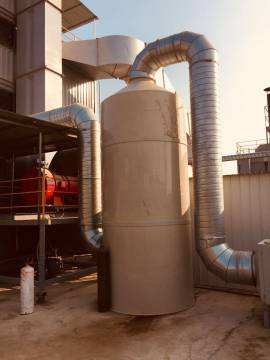 首信环保定制喷淋塔 酸雾净化塔 水喷淋废气净化塔的材质