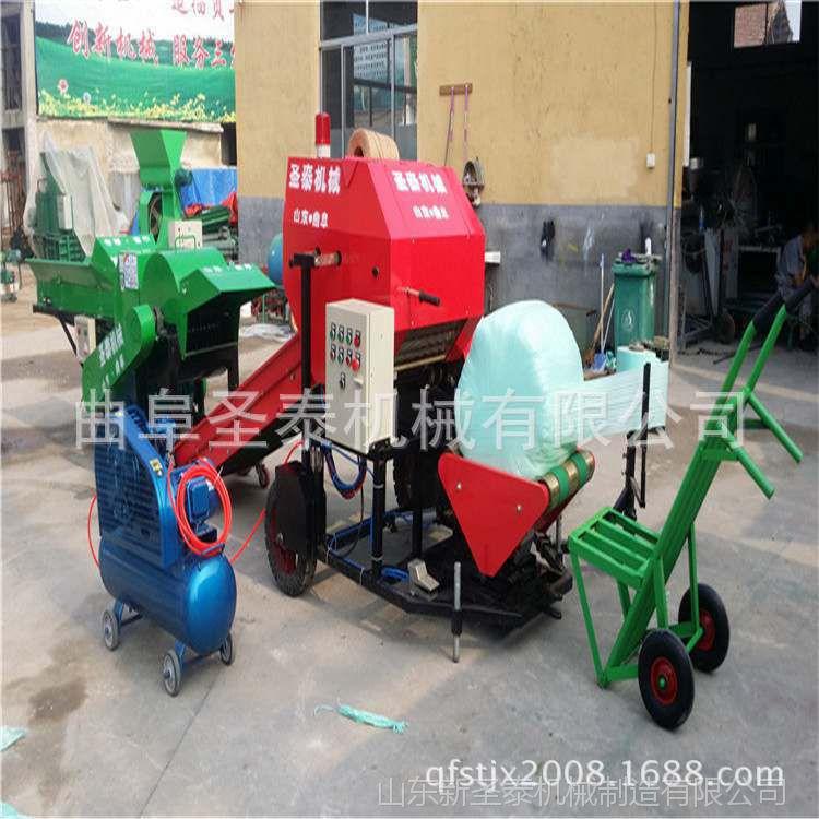 厂家供应玉米秸秆打捆机价格 小麦秸秆捡拾打捆包膜机玉米稻草