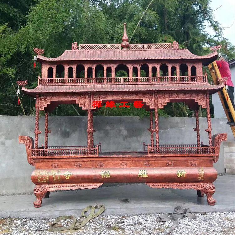 供应两层八龙柱铸铁香炉 佛堂祠堂道观香炉价格