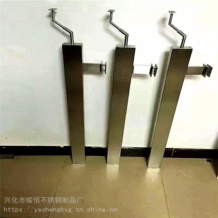 耀恒 304材质新款工程楼梯扶手栏杆扶栏阳台玻璃51圆管不锈钢立柱