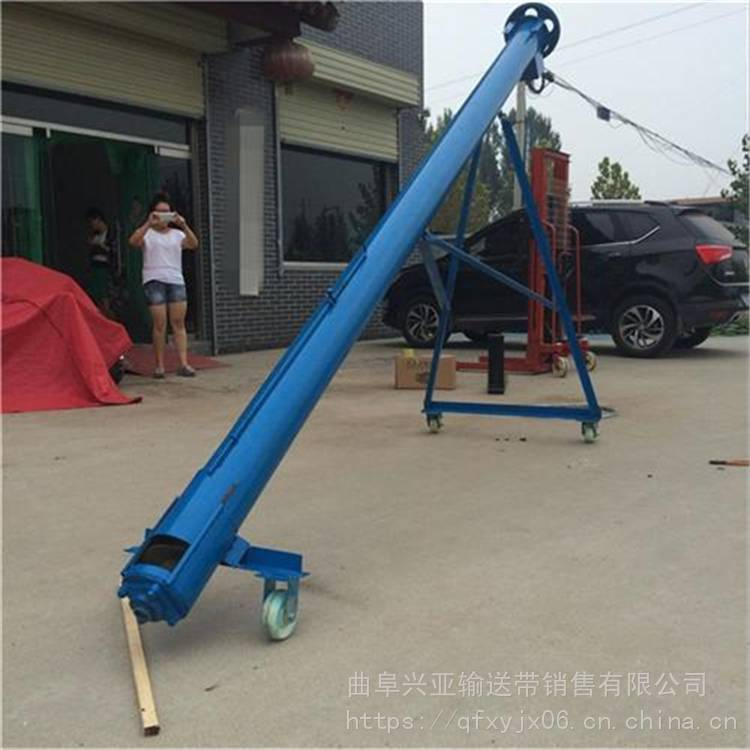 兴亚大角度螺旋提升机使用视频 大功率螺旋输送机结构图