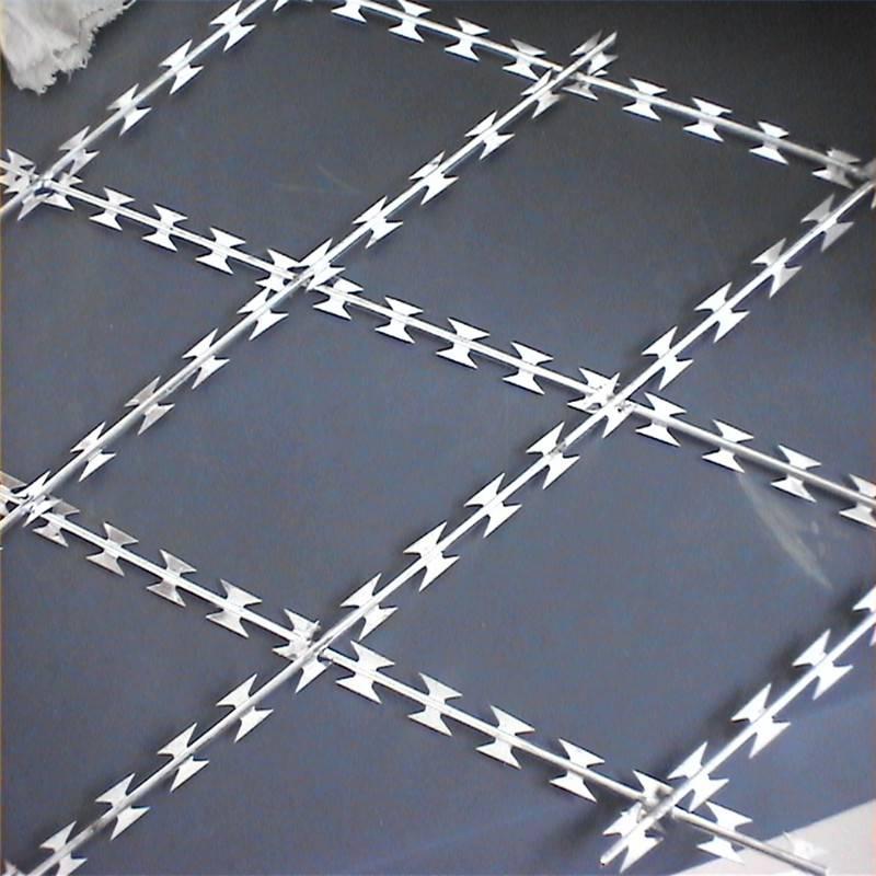 刀片刺网图片 安装刀片刺网 不锈钢刺绳