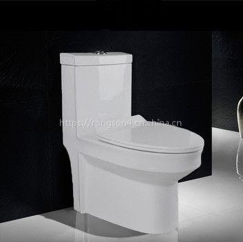 工程洁具家用陶瓷连体普通静音防臭一体式卫生间纯白色外贸出口酒店抽水马桶座便器