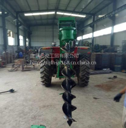 新型大直径种植高效打洞设备水泥杆钻孔机,电线杆挖坑机