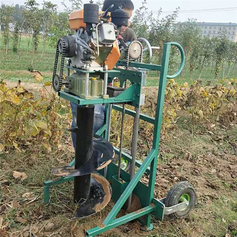 园林浇水施肥挖坑机 水泥电线杆打坑机 启航大棚埋桩钻眼机
