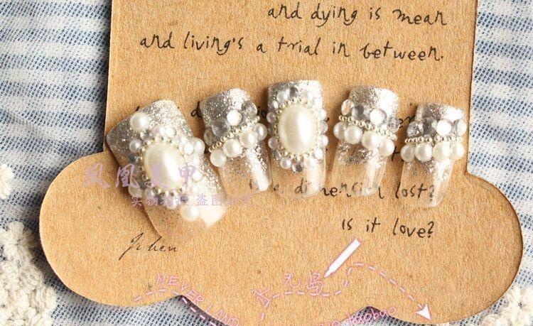 美甲饰品批发 美甲小珍珠 平底珍珠 大珍珠 大小都有 400颗左右图片