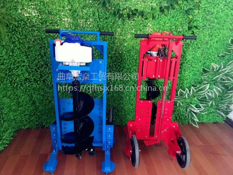 四轮拖拉机带动挖坑机植树挖坑机 栽树打孔机