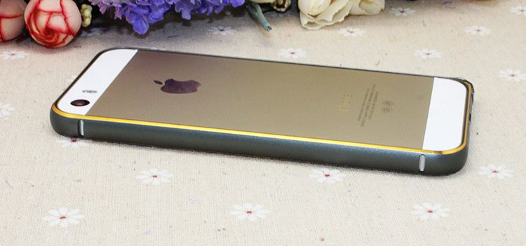 iphone5/5s手机4s边框双色金属极光圆弧皮带边海马扣金边输纸机苹果图片