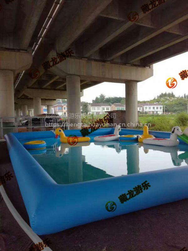 室外摆的孩子玩水的水池哪买 大型游乐充气方形水池定做 室外打气水池每平米价格
