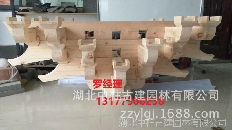 水泥斗拱制作,水泥预制构件,寺院斗拱构件