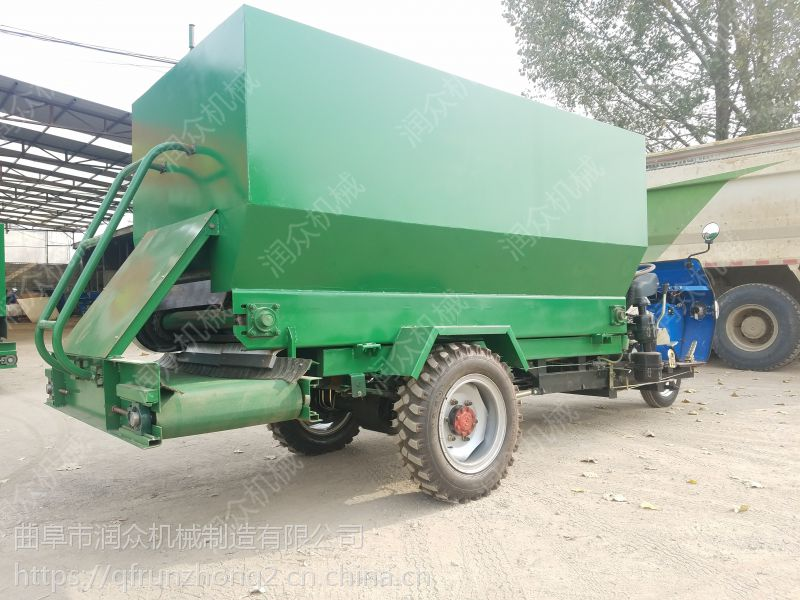 抛料均匀的柴油撒料车 可以节省养殖空间的撒料车润众