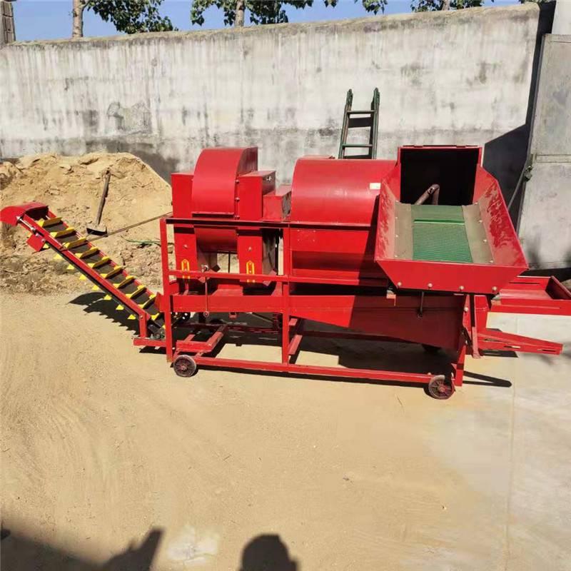 拖拉机带自动装袋摘果机 花生果秧分离机 启航花生果去秧机