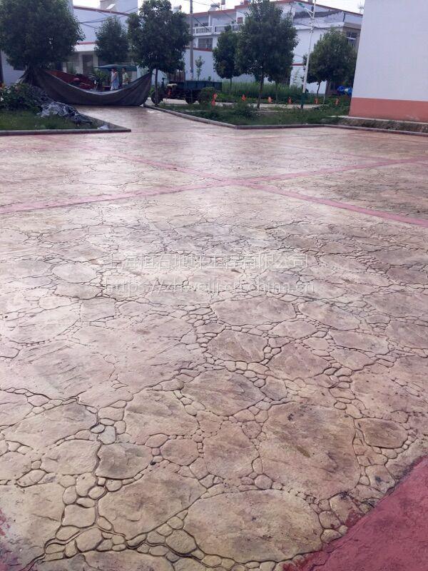 艺术压印地坪厂家 威海 德州 泰安山东地区材料配送技术指导