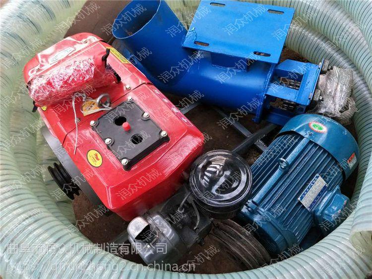 自动抽粮食机器 电动机在中间的吸粮机 软管上料机润众
