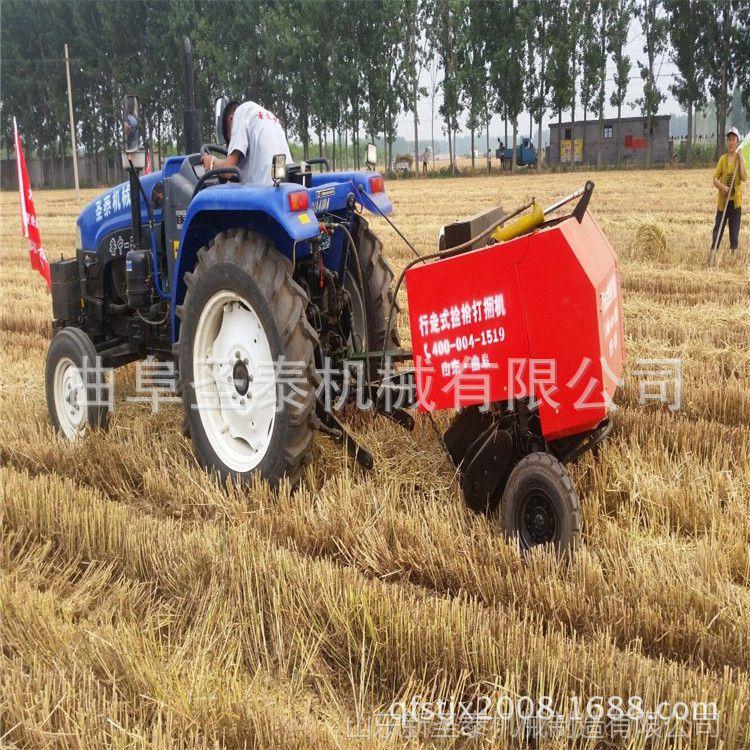 秸秆打包机厂家 稻草自捡打捆机 牧草秸秆打捆机