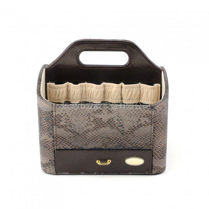 东莞立葳专业定制简约时尚高端化妆品皮盒包装