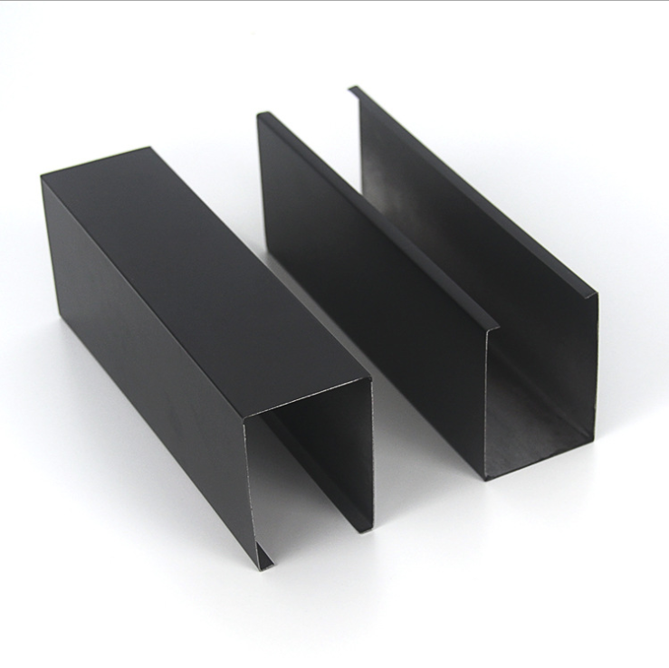 木纹铝方通吊顶装饰材料 U型铝方通仿木纹长条