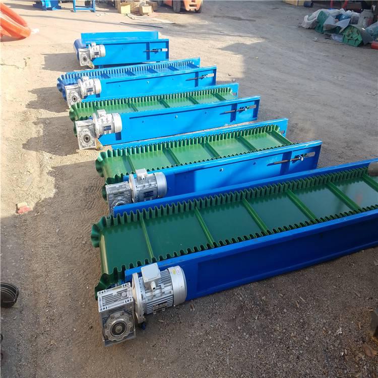 定制凸纹防滑输送机 提升各种物料输送机 布匹床单装船运输机 润众