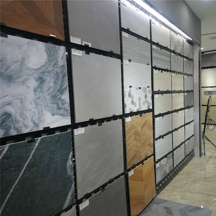 方孔挂瓷砖展架 600/800地砖样品展示背板 淄博市优质瓷砖展架孔板批发