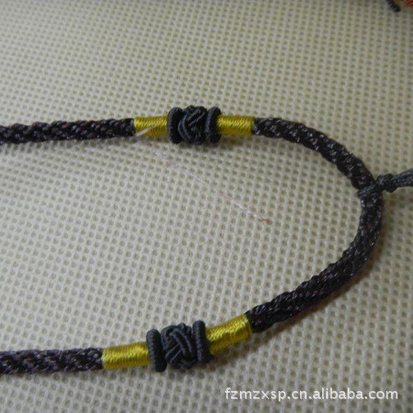 单条绳子的编�_金刚结咖啡色编织绳子批发 长短可调