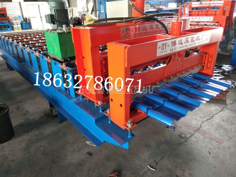 彩钢琉璃瓦压瓦机生产厂家@歙县800型竹节彩钢琉璃瓦压瓦机