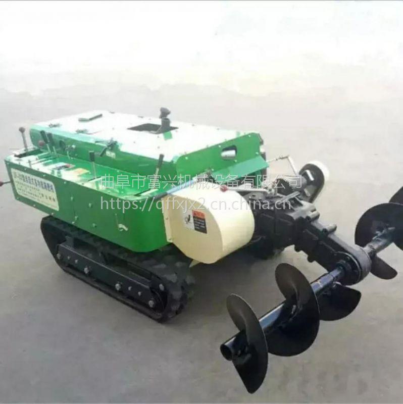 多功能开沟施肥回填机 履带自走式旋耕除草机 富兴批发