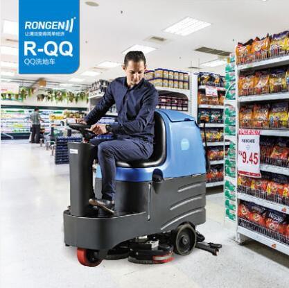 泰州电子厂用驾驶式扫地机 容恩品牌工业用洗地刷地磨地机