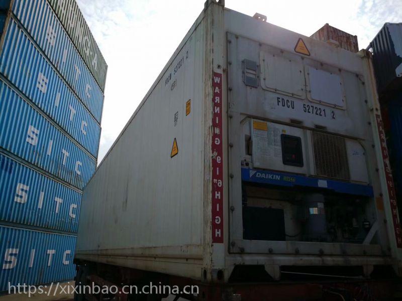 上海士乾批发价出售一批11年开立机组冷藏集装箱冷冻集装箱