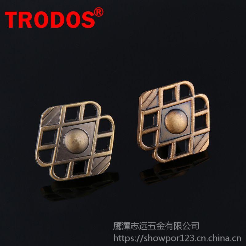 TRODOS家具五金配件仿古橱柜抽屉拉手锌合金镂空单孔拉手ZY-32