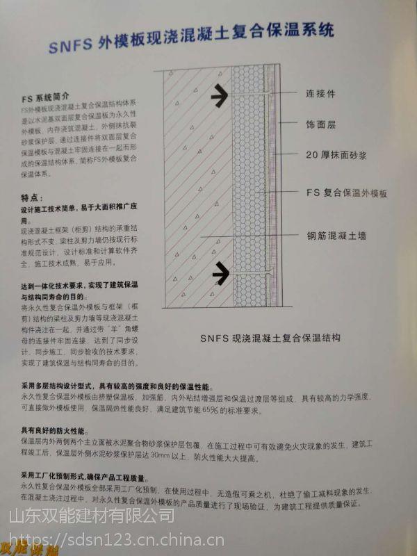 FS复合保温一体化外模板