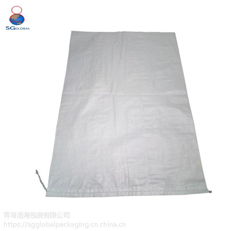 青岛蔬菜编织袋厂家 白色编织袋 全新料聚丙烯快递打包物流发货