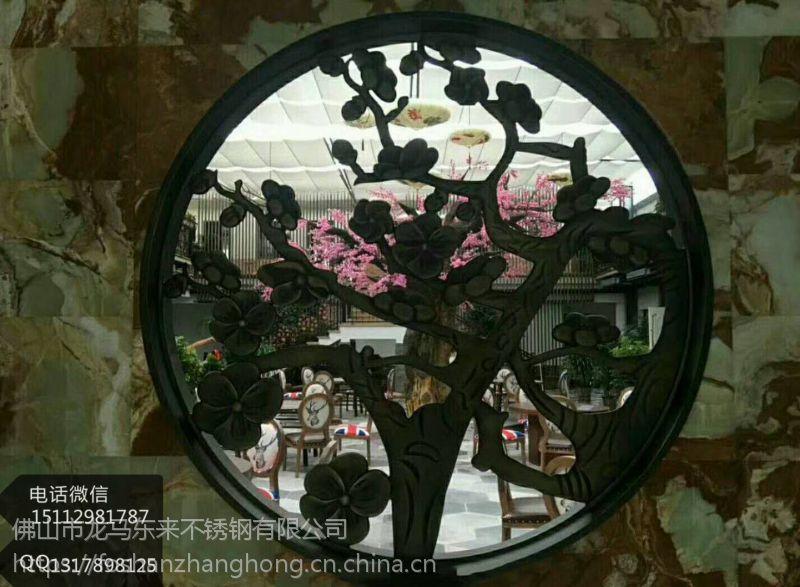 厂家定制这样的格调的【青古铜不锈钢隔断】客厅金属花格你会喜欢吗?
