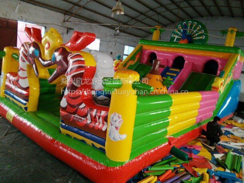 广场充气蹦床跳床玩具设备 蹦蹦床滑梯汽包款式多价格实惠 汽包蹦蹦床小型城堡