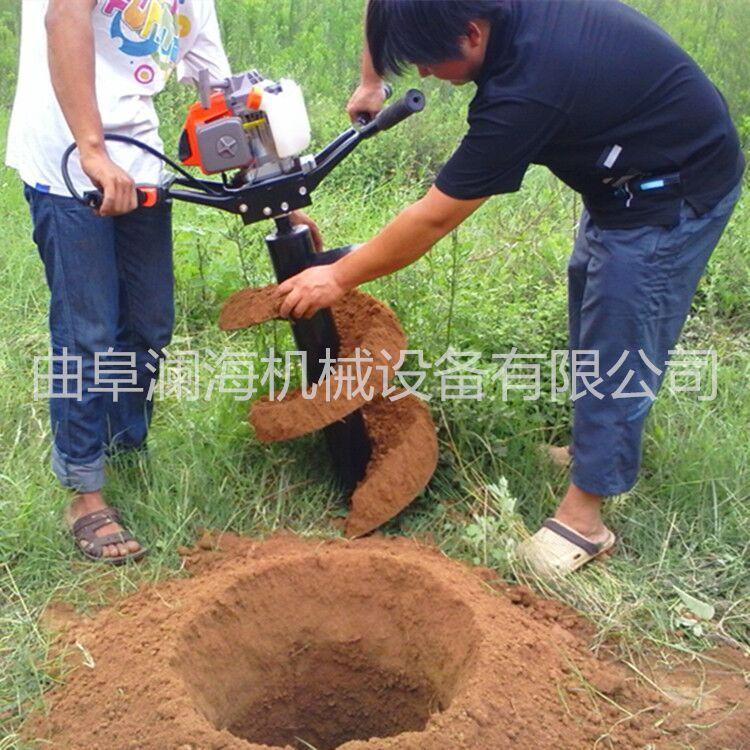 手推式果园果树挖坑机 果园便携式汽油挖坑机