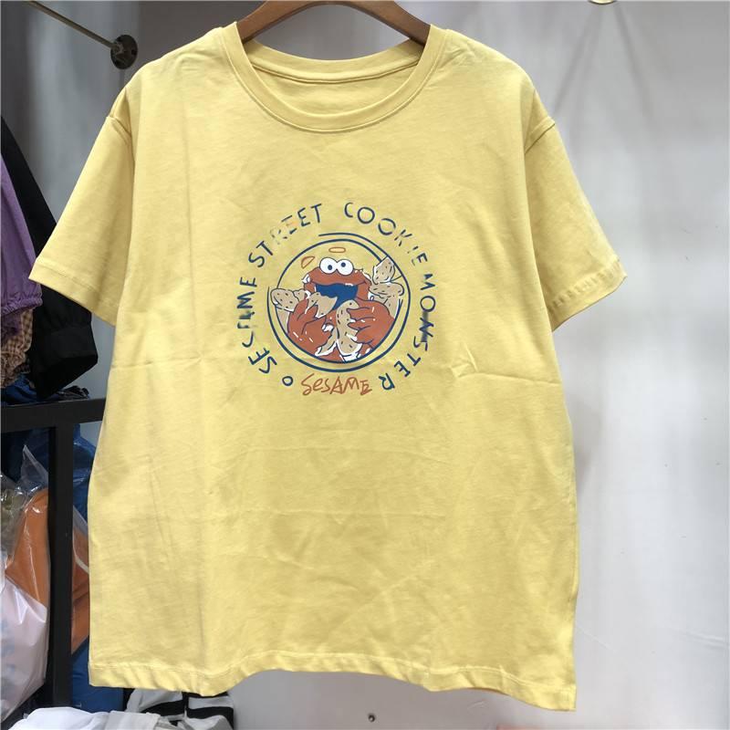便宜夏季T恤韩版女装上衣库存服装夏季时尚女装3元服装批发