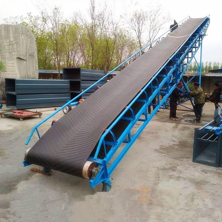 [都用]纸厂书本装车输送机 散饲料装车皮带机 绿色pvc食品级输送机