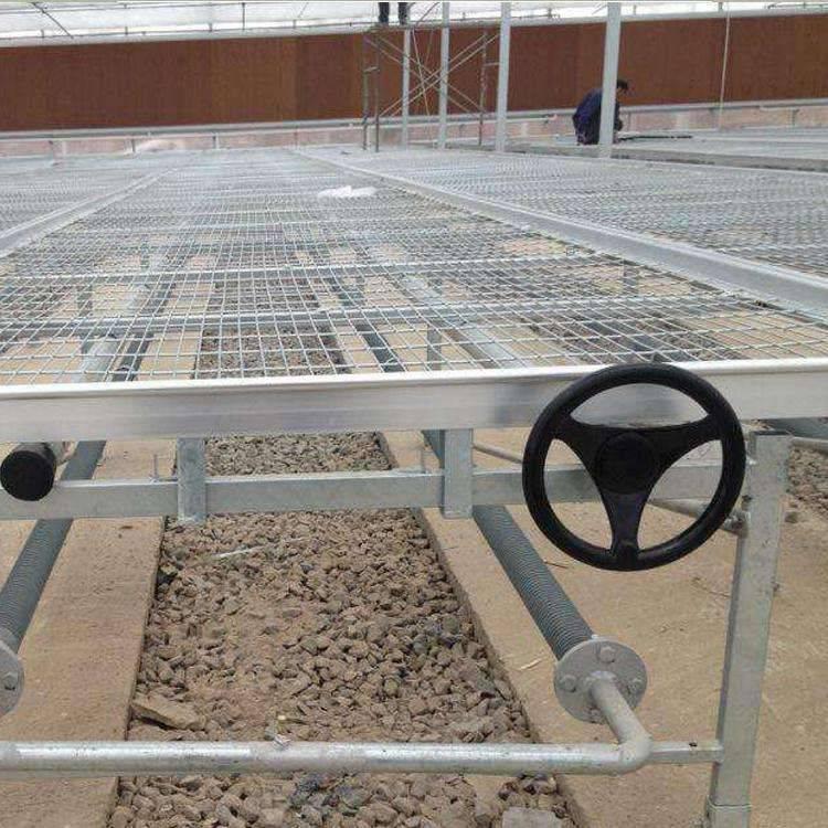 汉明供应移动苗床网 温室育苗网 育苗设施厂家