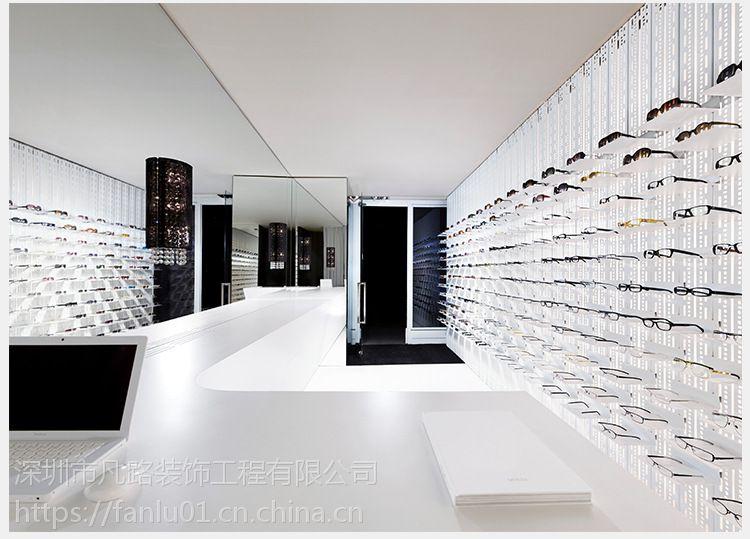 眼镜展柜 眼镜柜台 木皮眼镜展示道具 眼镜陈列柜 深圳眼镜展柜