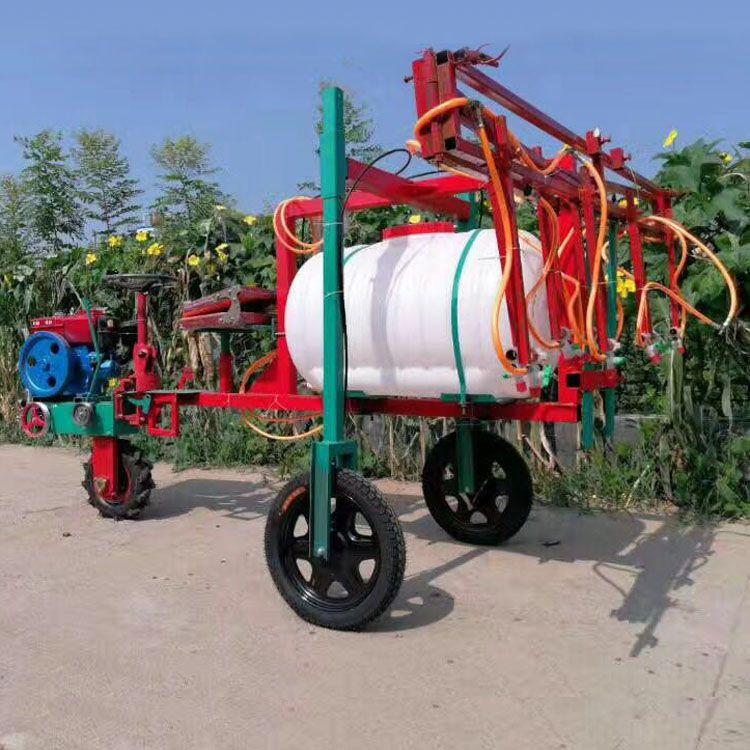新款带刹车柴油三轮车打药机 多喷头蔬菜玉米小麦喷药机