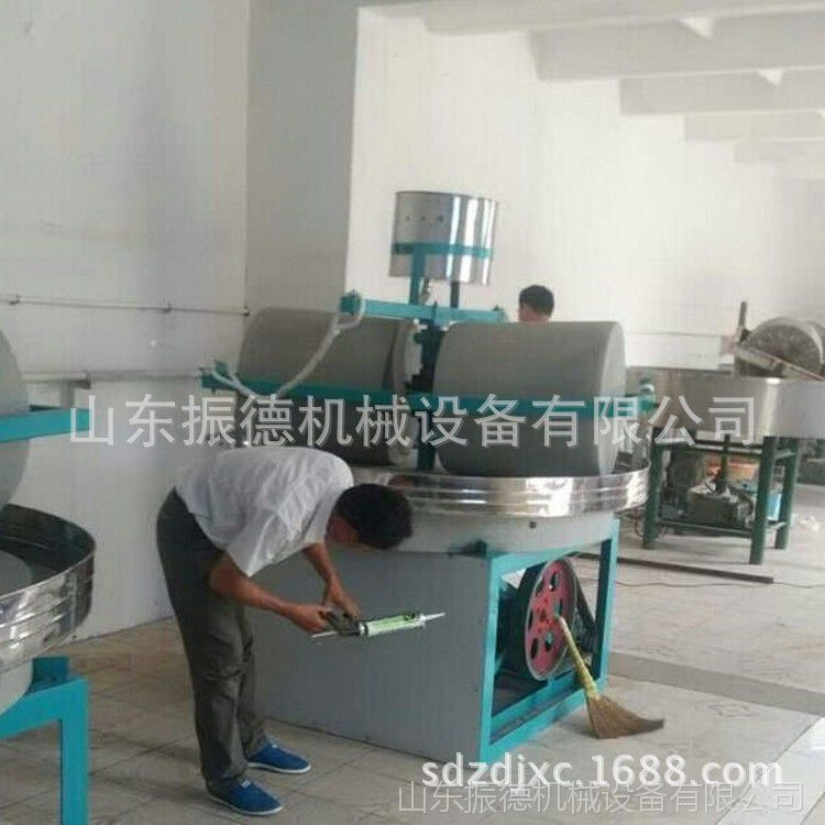 振德牌 全自动小麦面粉石磨机 五谷杂粮石磨 小型面粉加工机械 厂家