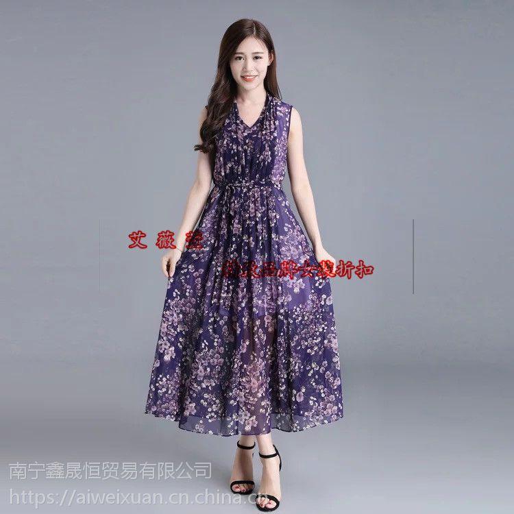 2018年夏季武汉大码女装尾货宽松蕾丝连衣裙批发
