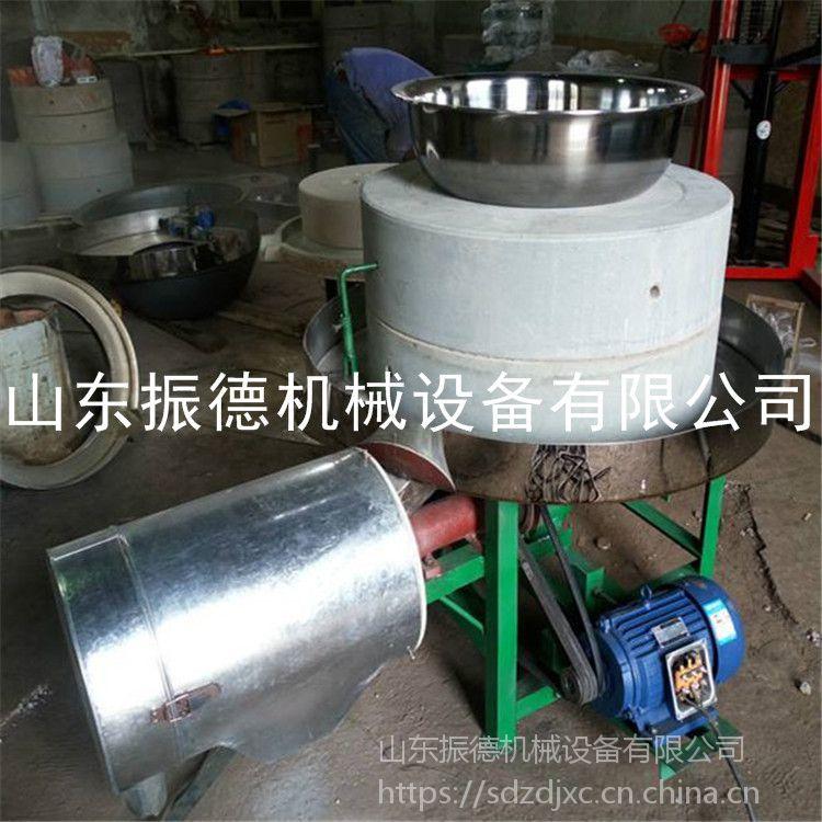 河南 五谷杂粮石磨面粉机 家庭作坊用电动石磨面粉机振德 粗粮打面机